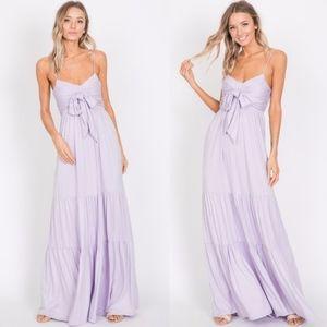 BELLE Ruffle Maxi Dress - LILAC